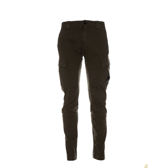 Garment Dyed Stretch Gabardine Cargo Lens Trouser