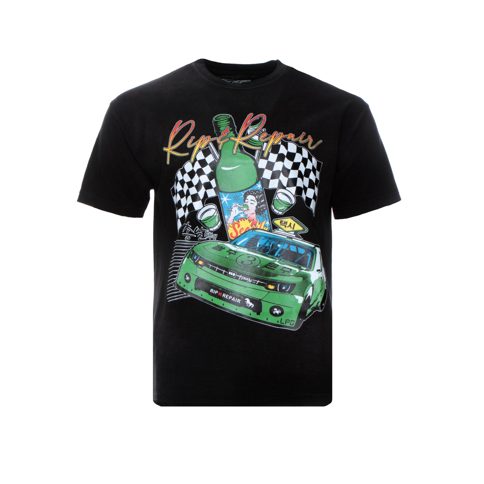 Rip n' Repair Seoul Taxi SS Men's Graphic Tee
