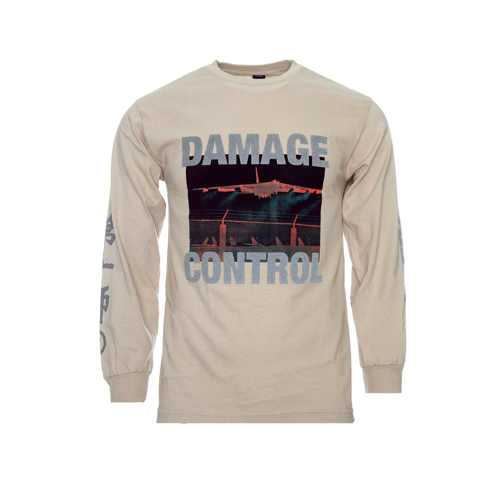 10 Deep Damage Control Men's LS Tan Tee