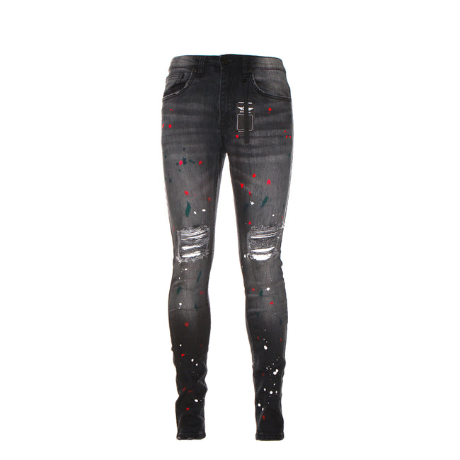 Black Denim Plasma Men's Black Skinny Jeans
