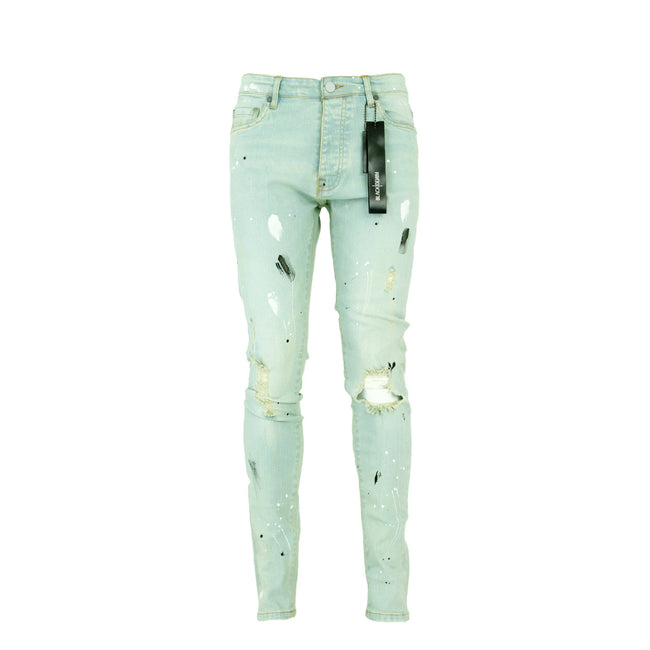 Black Denim Da Vinci Men's Designer Jeans