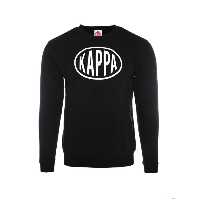 Kappa Authentic Pop Epaz Pullover Men's Sweaters Black
