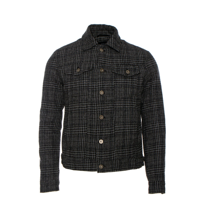 Kollar Clothing Plaid Trucker Jacket