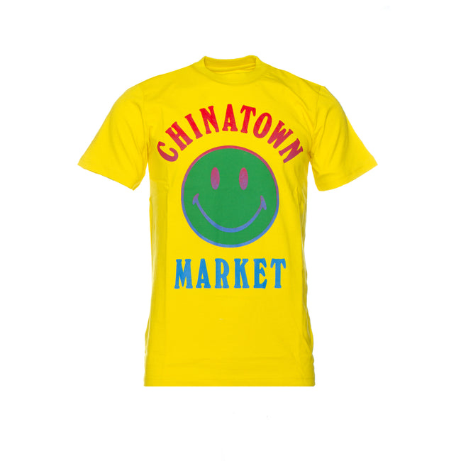 Chinatown Market Smiley Logo Men's Short Sleeve Tee Yellow.