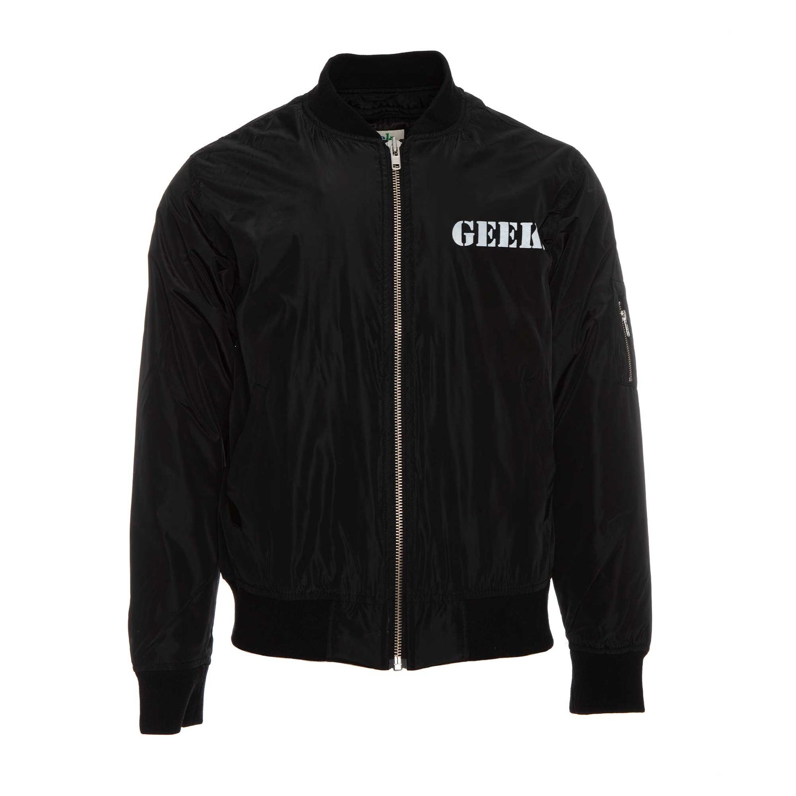 Fashion Geek by Alonzo Jackson Army Style Geek Jacket Black