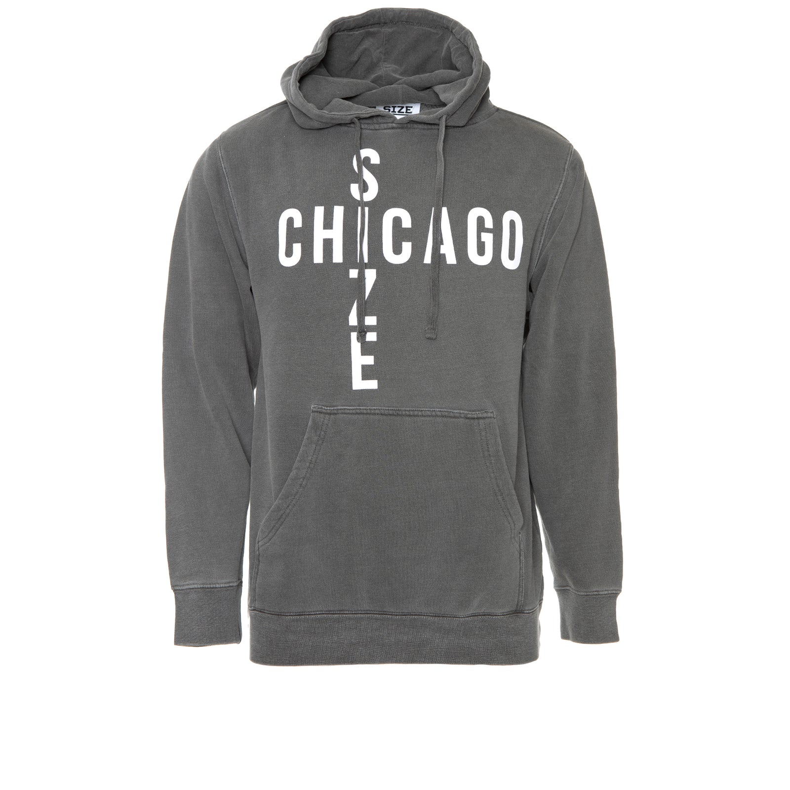 Size Chicago Men's Spring Hoodie Grey