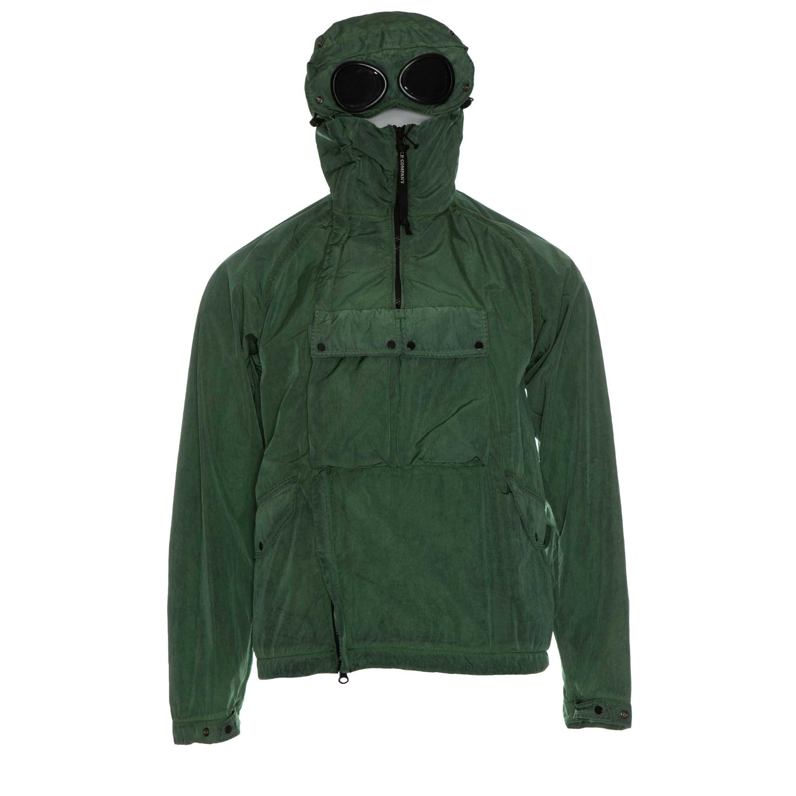 C.P Company Chrome Re-Colour Goggle Jacket in Poinciana Green