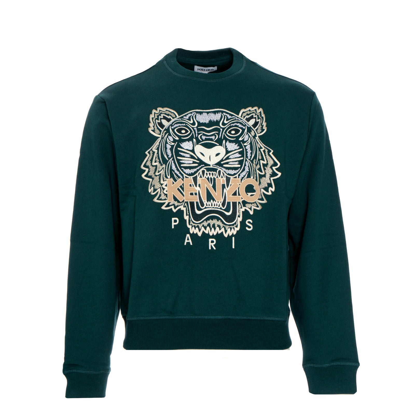 Kenzo Paris FW20 Classic Tiger Crewneck Men's Pullover Sweater  Green