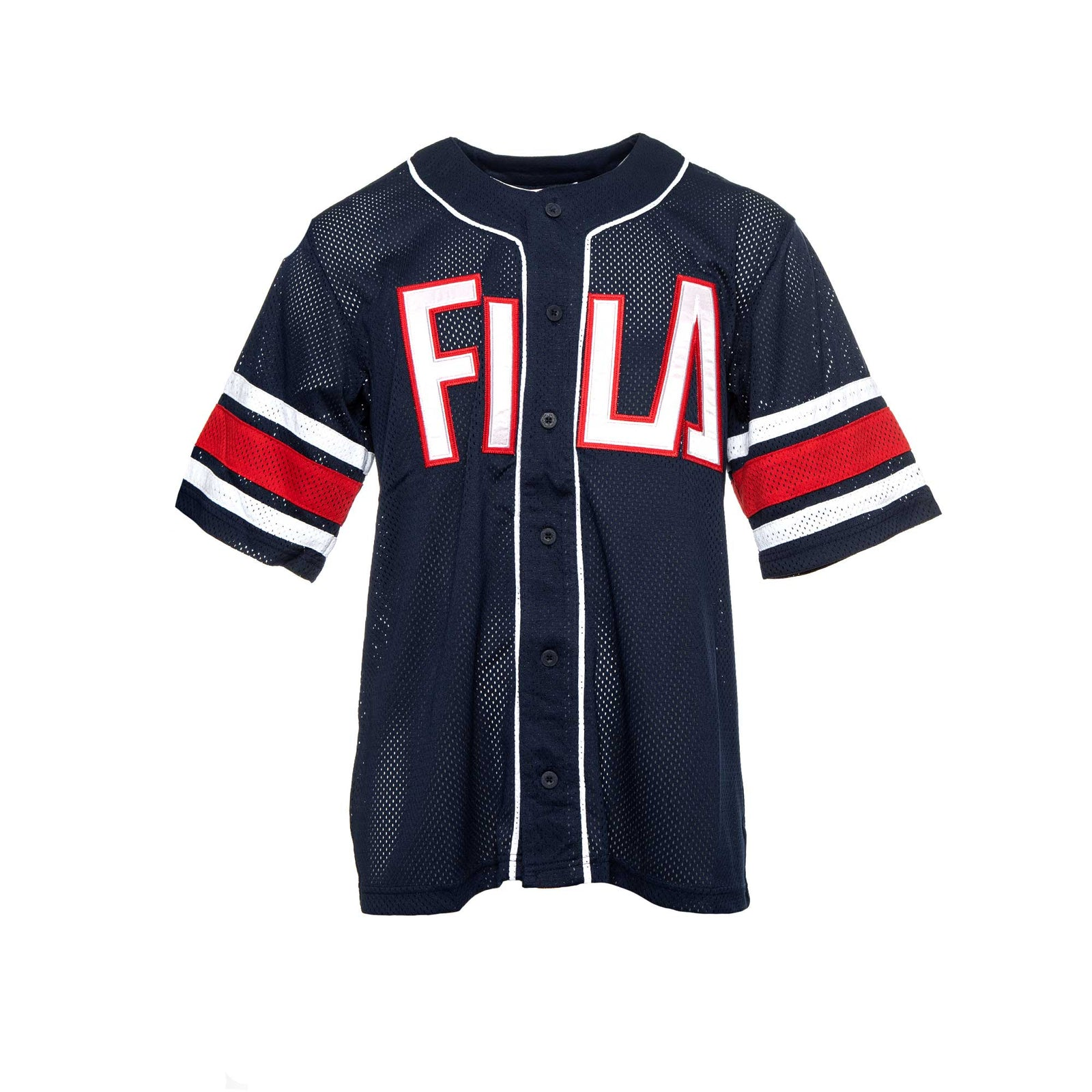 Fila Men's Kyler Baseball Jersey Navy
