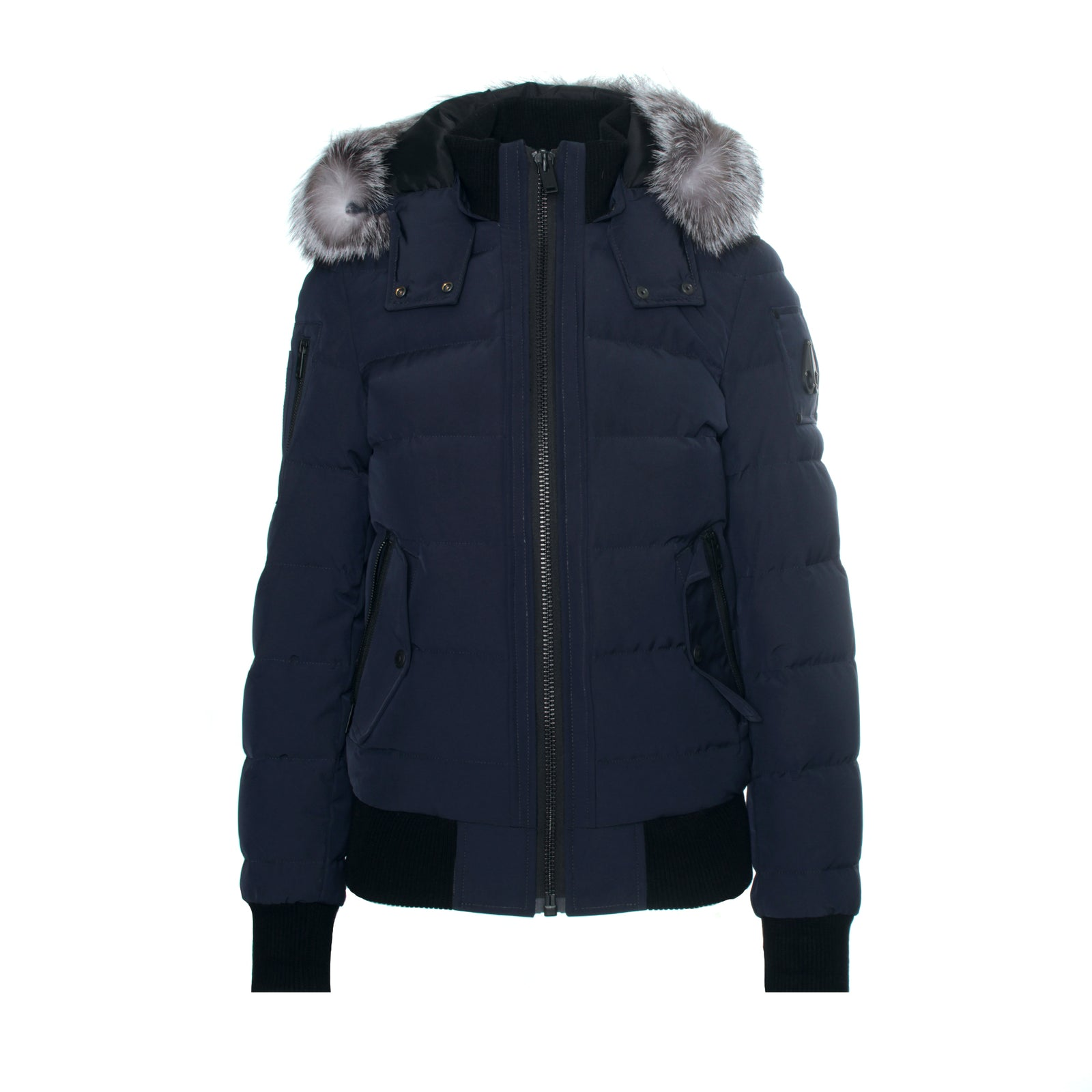 Moose Knuckles Ladriere Women's  Bomber Jacket Navy