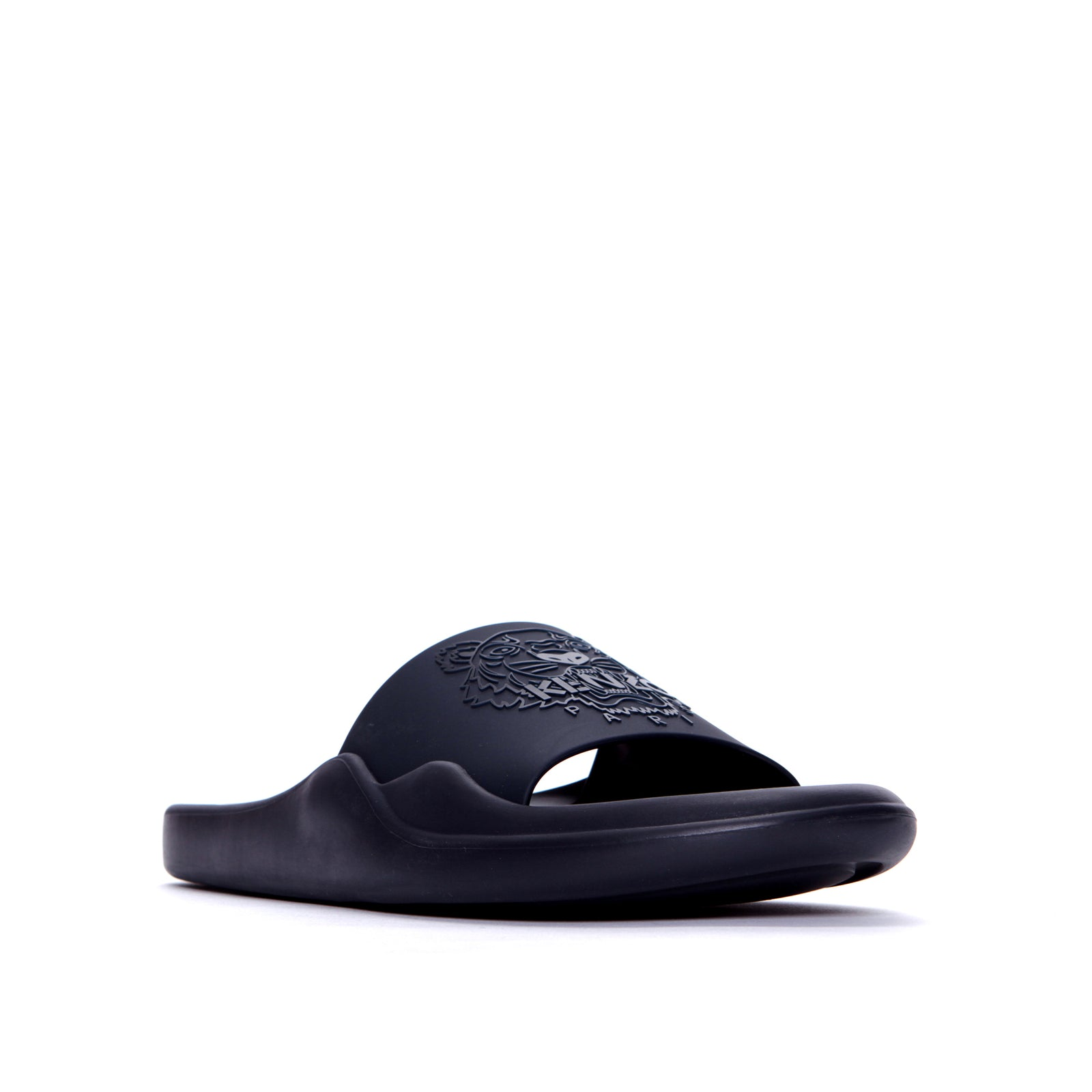Kenzo Paris FW20 Pool Mule Tiger Head Men's Slides Navy
