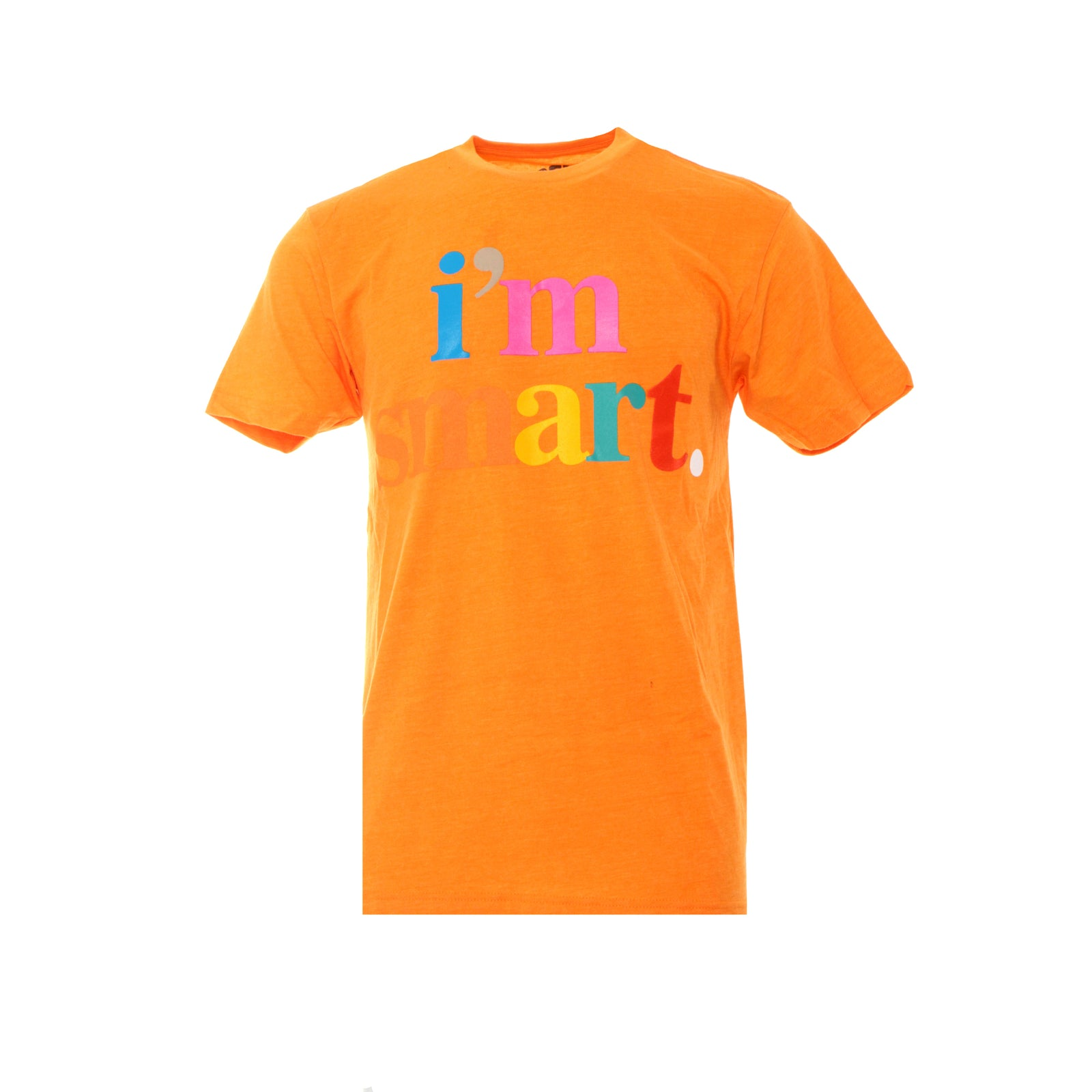 Fashion Geek I'm Smart Men's SS Graphic Tee Orange