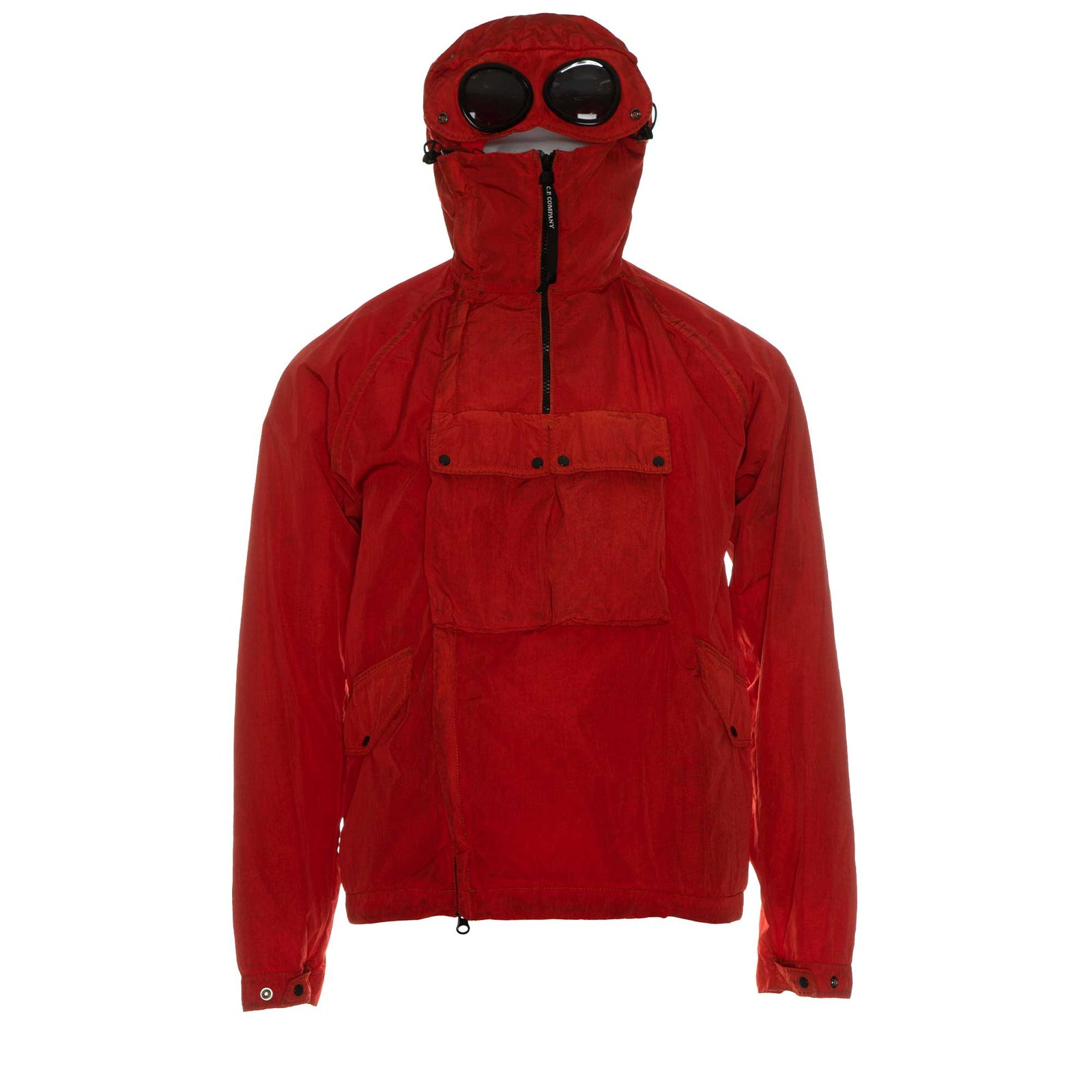 C.P Company Chrome Re-Colour Goggle Jacket in Poinciana Red