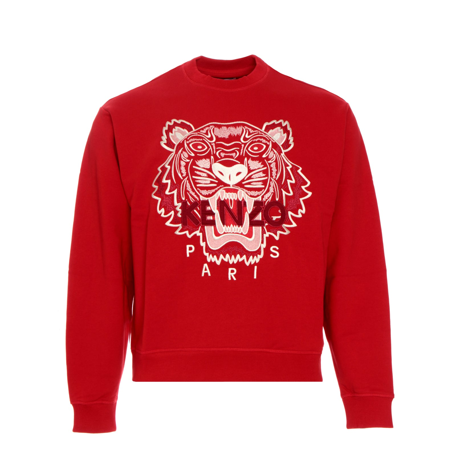 Kenzo Paris FW20 Classic Tiger Crewneck Men's Pullover Sweater  Red