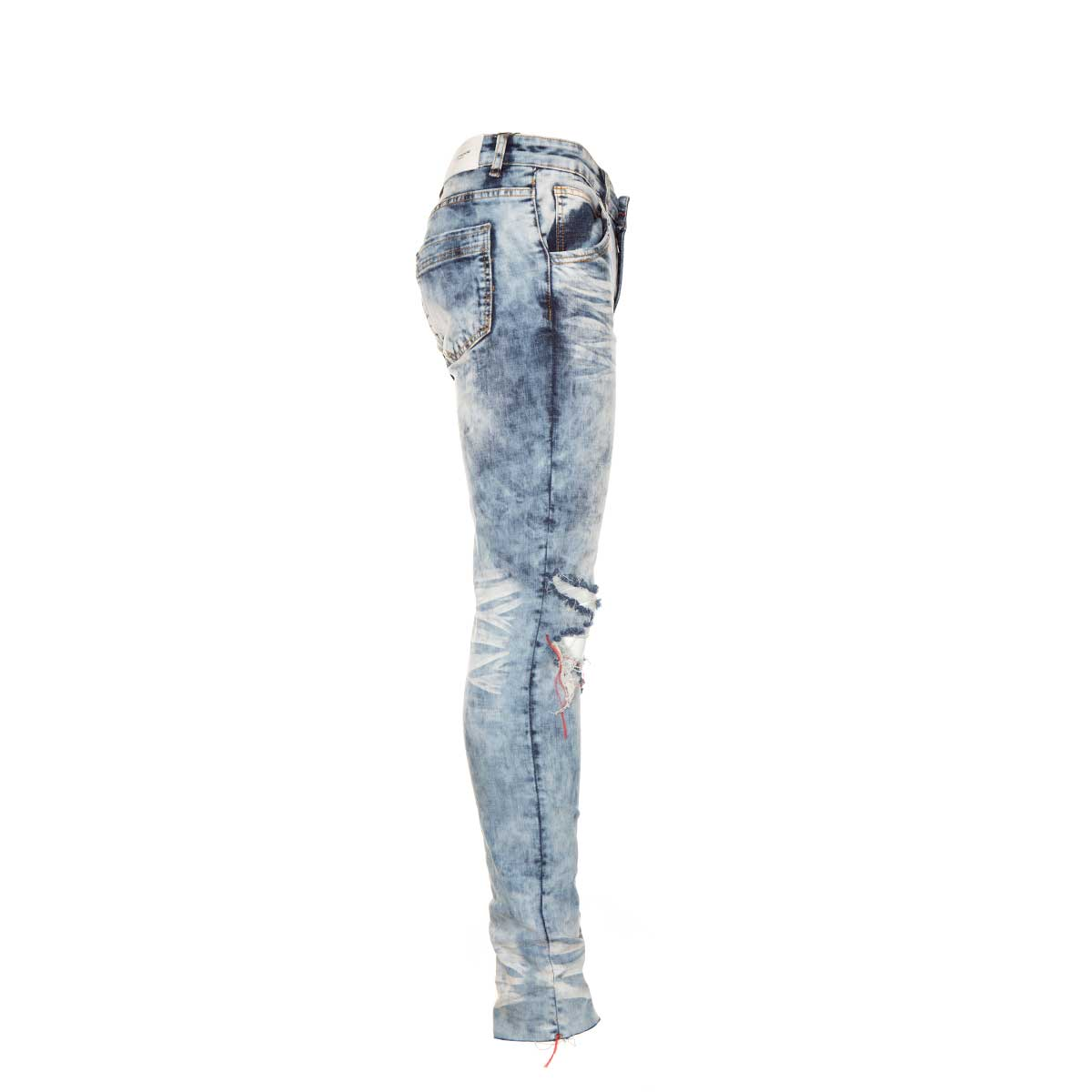 Lifted Anchors Jude Striped Denim Blue