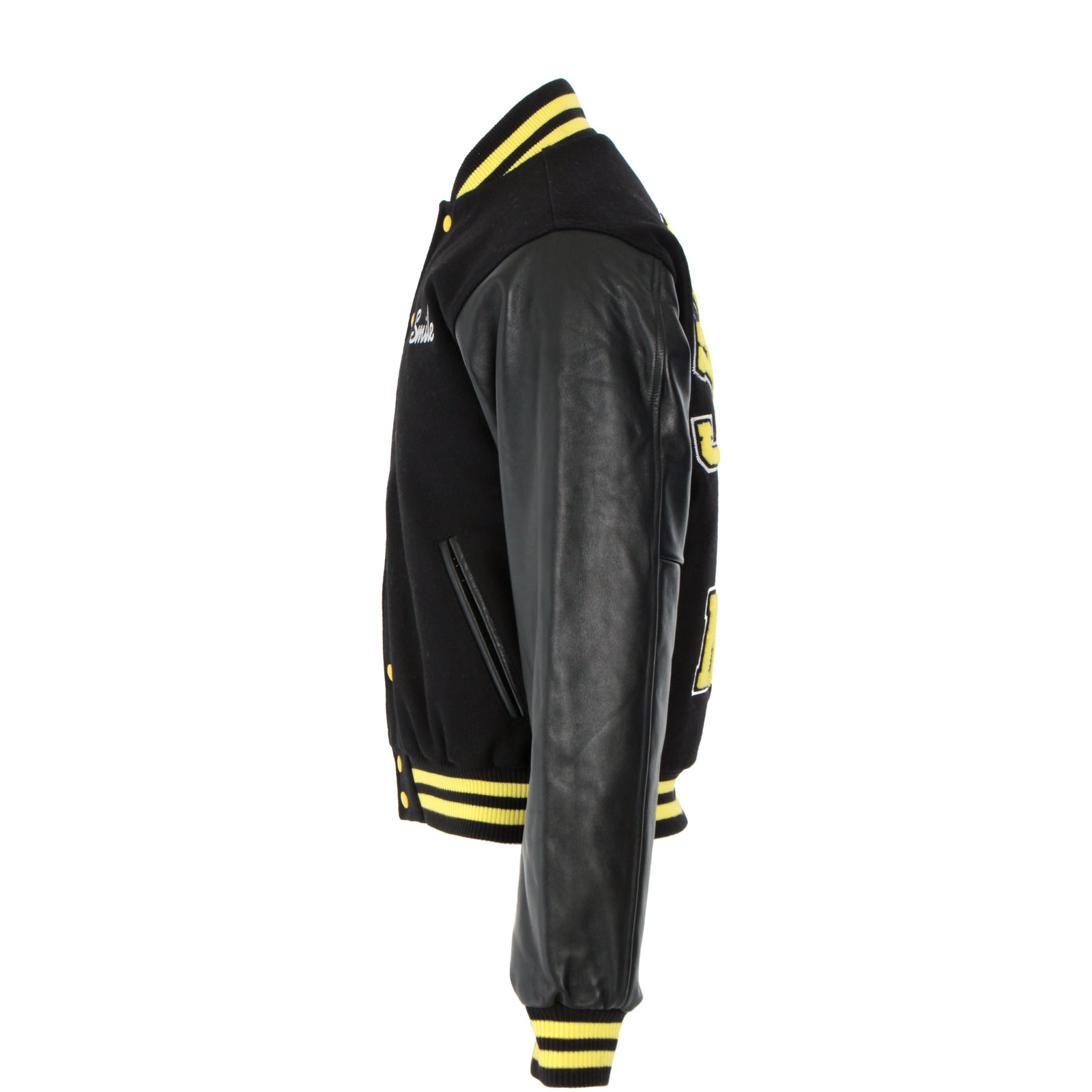 Chinatown Market Black Smiley Varsity Men's Jacket