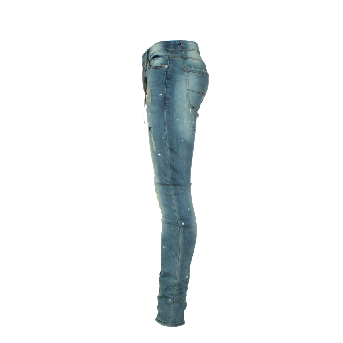 "Black Denim ""Atrium"" Men's Skinny Designer Jeans"