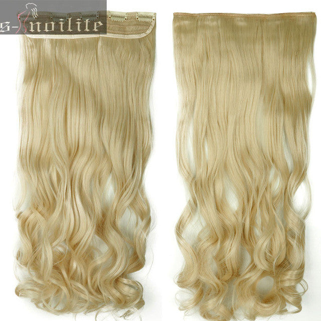 18 28 Inches Curly Wavy Hair Piece 34 Full Head Clip In Hair