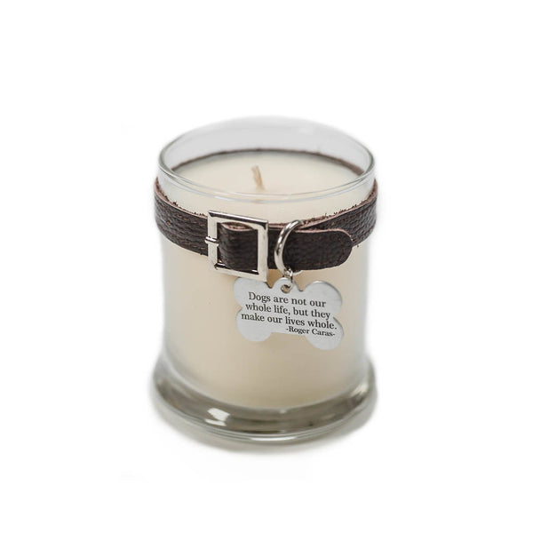 Maggie's Light ™ Dog Memorial Candle - Dk Brown (Rolling in Grass)