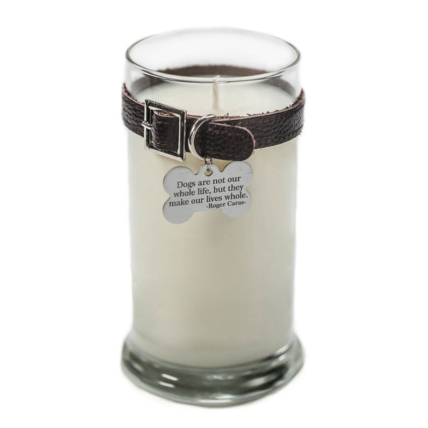 Maggie's Light ™ Dog Memorial Candle - 21oz Drk Brown (Rolling in Grass)