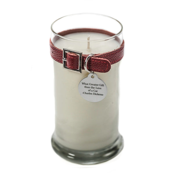 Maggie's Light ™ Cat Memorial Candle - 21oz Red (Unscented)