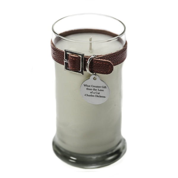 21 oz Maggie's Light Custom Cat Memorial Candle Memorial Giftred collar