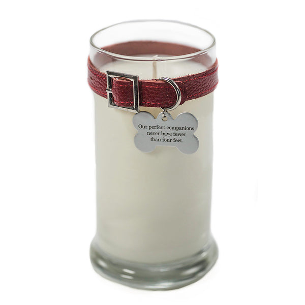 Maggie's Light ™ Memorial Candle (Dog) - 21 oz Red (Rolling in Grass)
