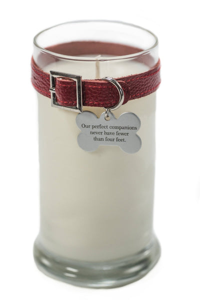 Maggie's Light ™ Dog Memorial Candle - 21 oz Red (Rolling in Grass)