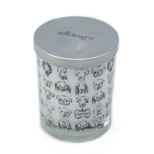 Dog Gift Candle with Dog Tags