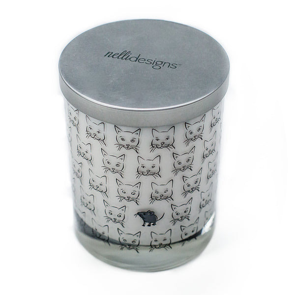 Cat Gift Candle with Mouse