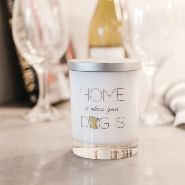"Dog Lover Gift Candle ""Home Is Where Your Dog Is"""
