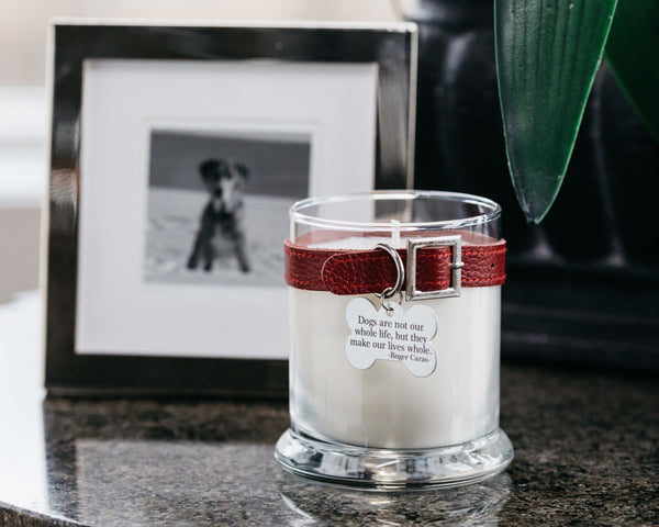 Maggie's Light ™ Dog Memorial Candle - Red (Unscented)