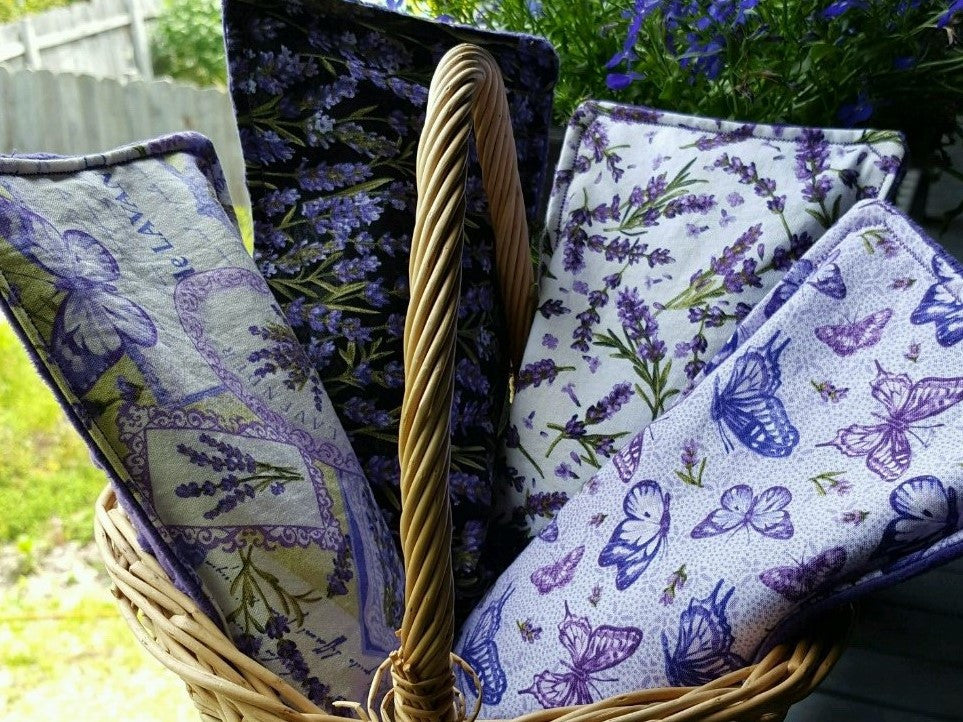 Lavender And Flax Seed Set of 4 Eye Pillows