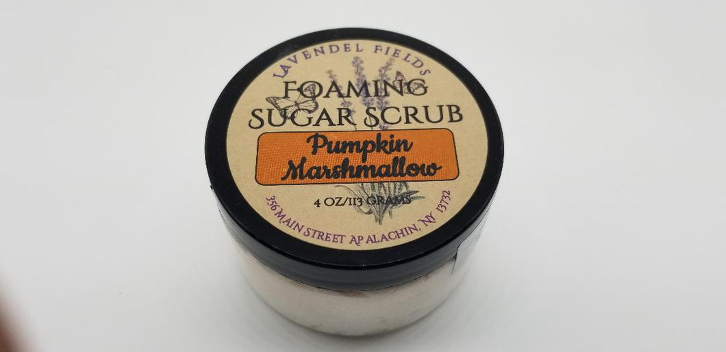 Pumpkin Marshmallow Foaming Sugar Scrub