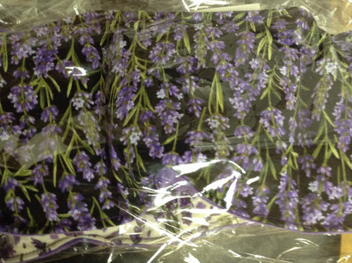 Lavender Dark Fabric / Lavender and Flax Seed Hot and cold Pack