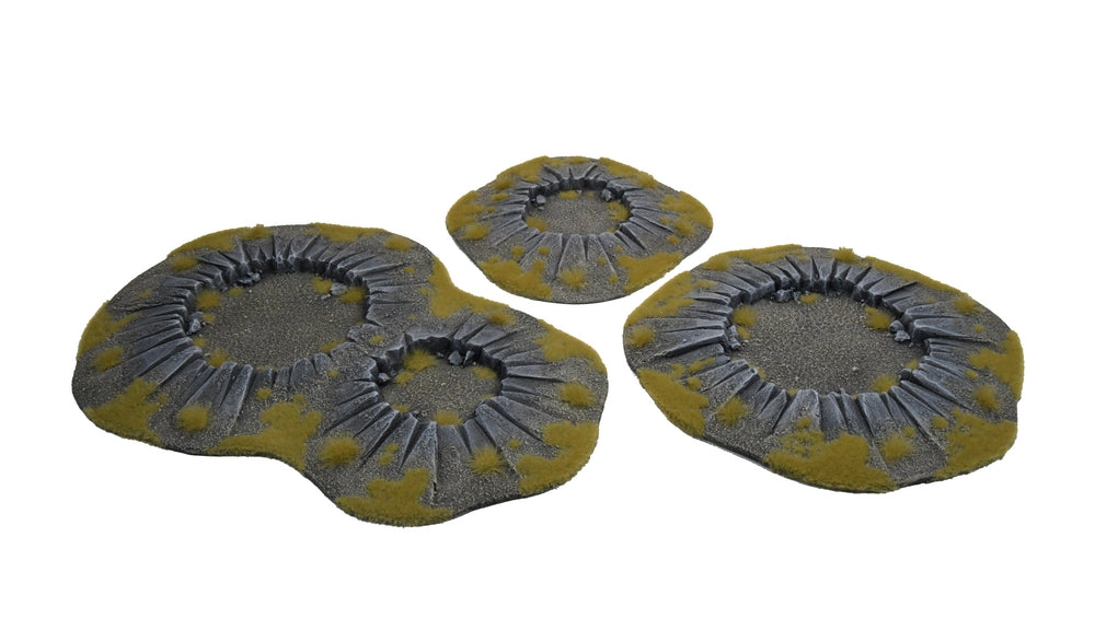 EXPLOSION CRATERS SET POST-APO 3 pc