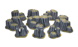 DESERT POST-APO ROCK SET 9 pc