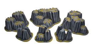 DESERT POST-APO ROCK SET 6 pc
