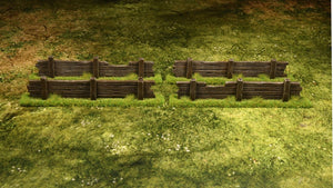 4 Wooden Fences / barricades
