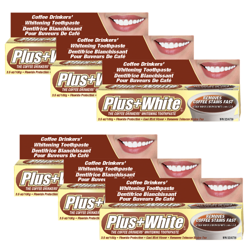 Plus White Coffee Drinker's Toothpaste - 6 Pack Special