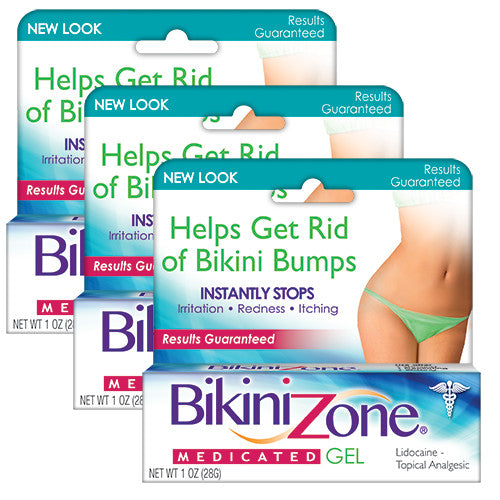 Bikini Zone Medicated Gel - 3 Pack