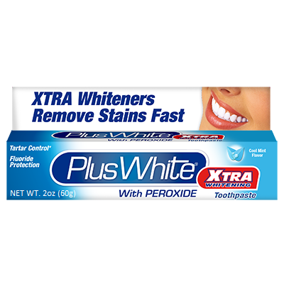 Plus White Xtra Whitening Toothpaste with Peroxide