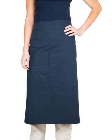 Navy Blue Bistro Apron with One Pocket - Fashion Designz Uniforms