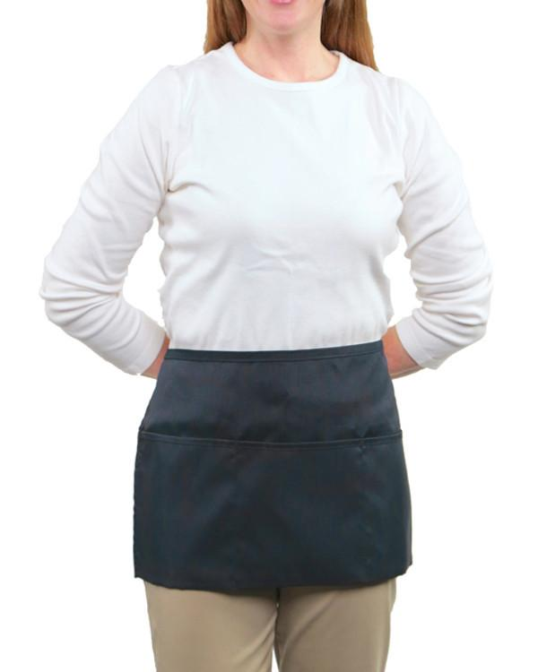Front of the House 3 Pockets Waist Apron Navy Color - Fashion Designz Uniforms