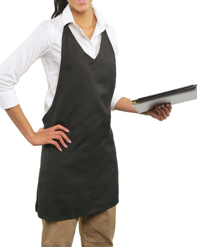 V-Neck Apron with Two Pockets - Fashion Designz Uniforms