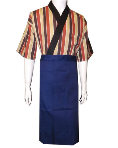 Fashionable Bistro Apron with One Pocket Dark Blue Color - Fashion Designz Uniforms