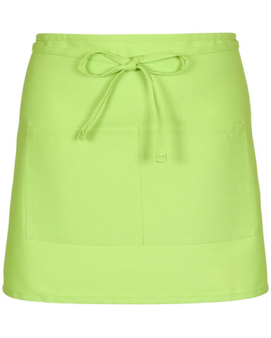 Half Bistro Apron with two pockets Lime Color
