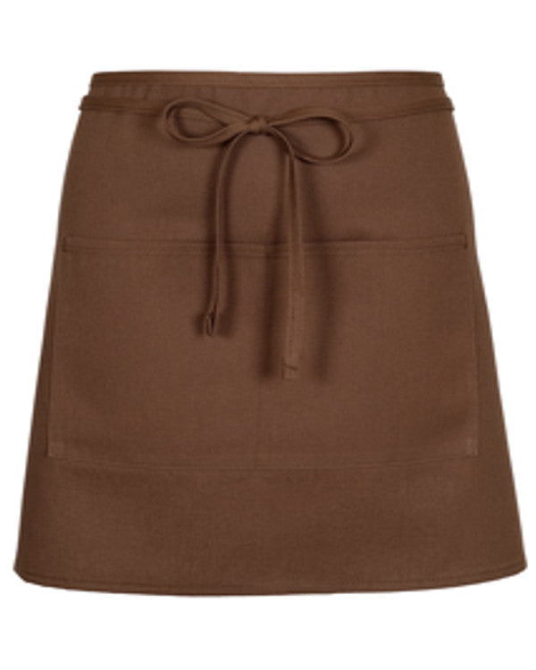 Half Bistro Apron with two pockets Mocha Color