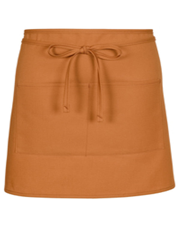 Half Bistro Apron with two pockets Nutmeg Color