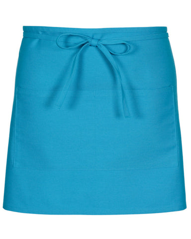 Half Bistro Apron with two pockets Turquoise Color